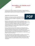 La Entrevista Médica y La Relación Con El Paciente