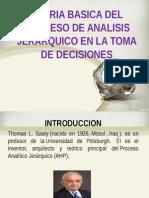 Teoria de Analisis Jerarquico y Toma de Decisiones