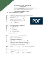 Test(VIIIA)-Mulţimi de Numere Reale. Intervale