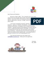 parent letter-2nd grade