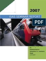 Isas Seminar Report