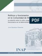 Quereda J. Políticos y Funcionarios en La Comunidad de Madrid