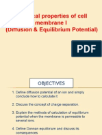 Electrical Properties of Cell Membrane