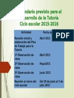 CALENDARIO TUTORIAS 2