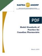 Model Standards of Practise for Canadian Pharmacist