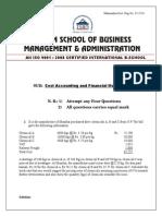 Cost Finance Paper