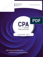 Certified Public Accountant Course Book Unit 1 Finance