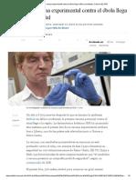 La Primera Vacuna Experimental Contra El Ébola Llega a África Occidental _ Ciencia _ EL PAÍS