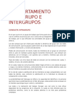 Comportamiento Intragupo e Intergrupos