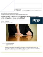 ¿Cómo Expedir Certificados de Ingresos a Personas Que No Están Obligadas a Llevar Contabilidad_ _ Actualidad - Actualicese