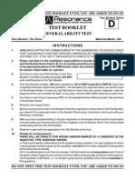 SCRA Exam 2015 General Ability Test Code D