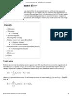 Recursive Least Squares Filter