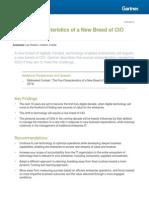 Five Characteristics of a New Breed of CIO