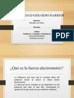Fuerza electromotriz y resistores en serie