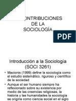 3.2 Contribuciones de La Sociologia.