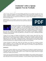 Esequias Soares Da Silva - Artigo Sobre a Igreja Voz Da Verdade