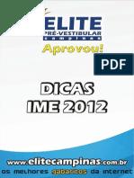 Dicas Ime 2012
