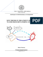 New trends in treatment of reject water from dewatering of sludge