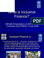 Inclusive Finance a presentation by Marcella Willis of UNDP