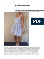 Recycled Curtain Ruffle Strap Dress Original