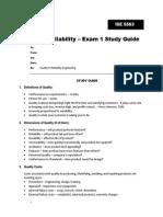 Q&R Exam 1 Study Guide