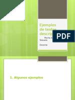 Formas y Ejemplos de Textos Descriptivos Marita Alama