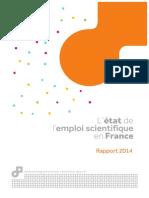 MESR Etat de l'Emploi Scientifique en France (2014)
