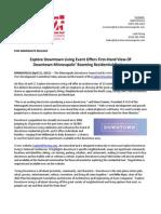 Explore Downtown Living Press Release