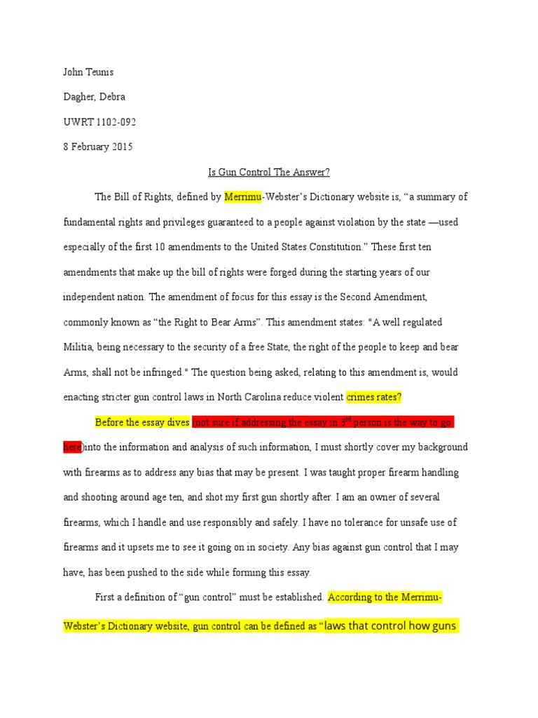 Rough Draft    Gun Politics In The United States  Overview Of  Rough Draft    Gun Politics In The United States  Overview Of Gun  Laws By Nation Politics And The English Language Essay also How To Write A Thesis For A Persuasive Essay  Compare And Contrast Essay Sample Paper