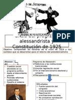 Crisis Del Programa Alessandrista y Constitución de 1925