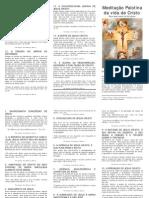Oração Conforme a Meditação de Pallotti Em Camaldoli Em Julho de 1839 e Também Dos 33 Pontos Da Regra Fundamental