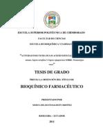 Baldeon. 2011. Actividad Insecticida de AE de Tagetes Sobre Premnotrypes Vorax
