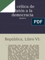 La crÃ-tica de Platón a la democracia (2)