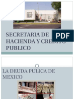 La deuda Publica en Mexico