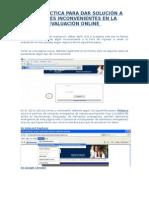 GuÃ-a para solucionar posibles inconvenientes en la evaluación Online