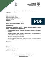 Carta modelo solicitando recursos