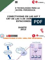 Conectividad en Las Aip y Crt de Las II.ee (Servidor y Estaciones)( in 2.3)