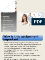 5BUS1085 - Lecture 4 - Career Report Assignment Requirements