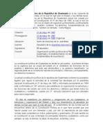 Consttucion Politica de La Republica de Guate
