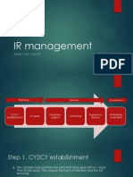 IR Management Flow
