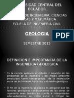 Dia positivas de la Unidad I de Geologia