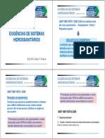 Exigências de Sistemas Hidrossanitários PDF