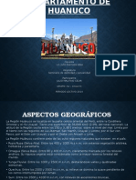 Departamento Huanuco y Pasco