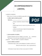 Plan de Emprendimiento Laboral