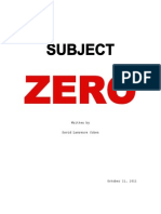 SUBJECT ZERO by D. Cohen - 10.11.11