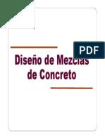 Metodos de diseño de mezclas de concreto