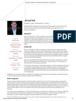 Michael Dell - Biography - Business Leader, Entrepreneur - Biography