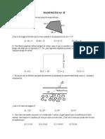 Concurso Examen Matematicas I, II y III