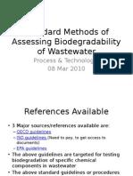 Standard Methods for Determination of Biodegradbility