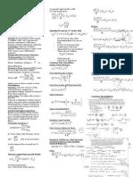 Process Control Formula Sheet